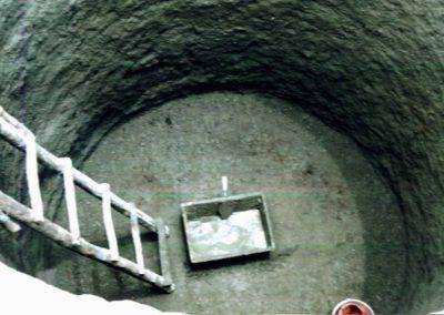 Construcción de cisternas subterráneos de recolección de agua pluvial, perforación