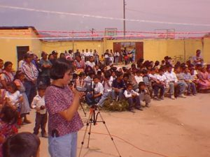 Inauguración de otra escuela de muchas construidas, 2